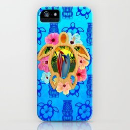 Hawaiian Surfboard Sunset iPhone Case