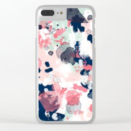 Lola - Painted abstract trendy color palette minimal decor nursery home Clear iPhone Case