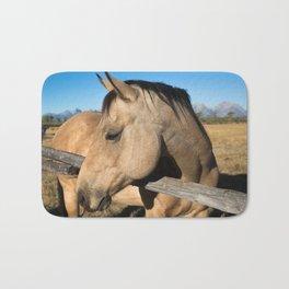 Shy - Horse Plays Coy in Western Wyoming Bath Mat