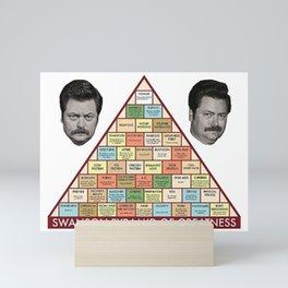 Swanson Pyramid of Greatness Mini Art Print