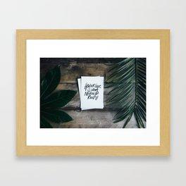 How we live Framed Art Print