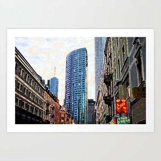Frankfurt Germany - Red Light Art Print