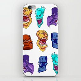 Colorful Faces iPhone Skin