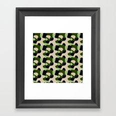 Green Camo Pattern Framed Art Print