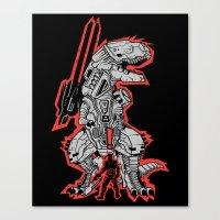metal gear Canvas Prints featuring Metal Gear T.REX by MeleeNinja