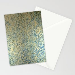 Blue Italian Hair Water Marbling Stationery Cards