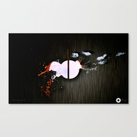 dot Canvas Prints featuring dot by oppositevision