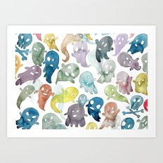 Happy Ghosts Art Print