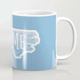 North Carolina Map State Blue Watercolor NC Home Coffee Mug