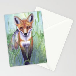 Young Fox Stationery Cards