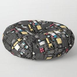 Black circuit board Floor Pillow