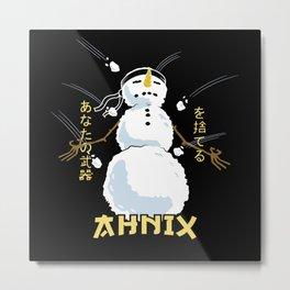Zen Snowman Metal Print