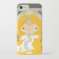 rapunzel iPhone & iPod Cases featuring Rapunzel by Squid&Pig