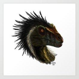Raptor Head Art Print