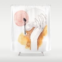 hamlet Shower Curtains featuring Hamlet by doFirlefanz