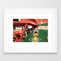 ducati Framed Art Prints featuring Ducati Motor by Internal Combustion