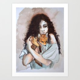 My fox, my love Art Print