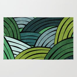 Lines - Green Rug