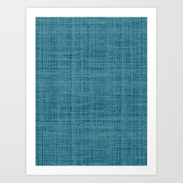 navy teal blue abstract texture style pattern Art Print