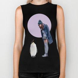 Girl & Penguin #1 Biker Tank