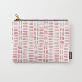 Abstract rectangles - dusty pink Carry-All Pouch
