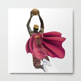 King James dunking with the Crown Metal Print