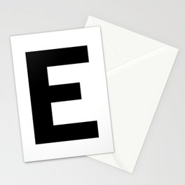 Letter E (Black & White) Stationery Cards