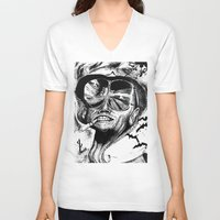 fear and loathing V-neck T-shirts featuring Fear and Loathing by Tufty Cookie