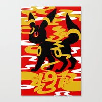 umbreon Canvas Prints featuring #197 - Umbreon by Solis