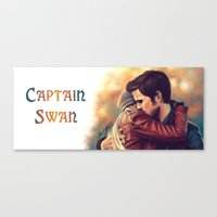captain swan Canvas Prints featuring Arms around me - Captain Swan mug by Svenja Gosen