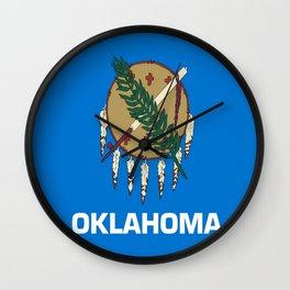 flag of oklahoma-Oklahoma,south,Oklahoman,Okie, usa,america,Tulsa,Norman,Broken Arrow Wall Clock
