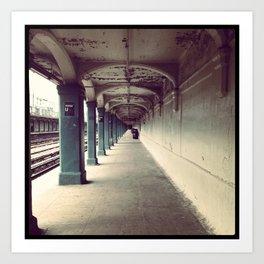 Avenue U Train Station in Brooklyn Art Print