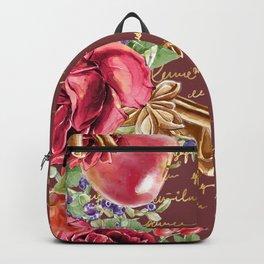 Elegant Christmas - burgundy rose Backpack