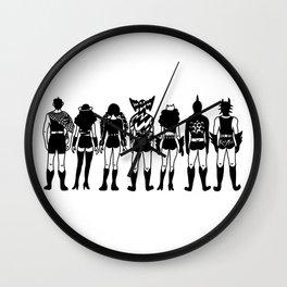 Superhero Mask Backs Edit Wall Clock