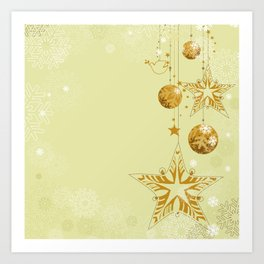 Christmas ornaments background Art Print