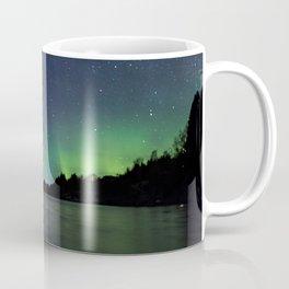 Northern Lights above a lake Coffee Mug