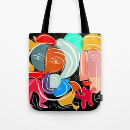 Love your family expressionist cubist street art Tote Bag
