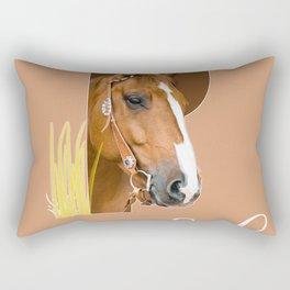 Paard - dierenalfabet Rectangular Pillow