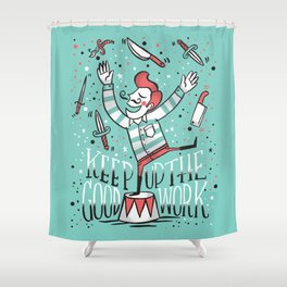 All up in the air Shower Curtain