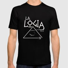 la logia del barrio Black Mens Fitted Tee MEDIUM