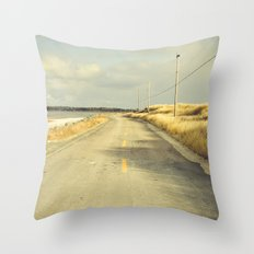 The Road to the Sea Throw Pillow