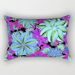 Vibrant Floral Collage Rectangular Pillow
