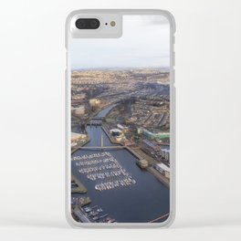 River Tawe in Swansea city Clear iPhone Case