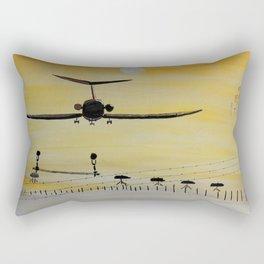 Yellow last flight Rectangular Pillow