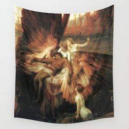 Mourning for Icarus - Draper Herbert James Wall Tapestry