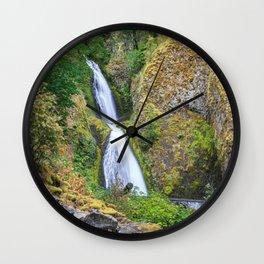 Wahkeena Falls in the Columbia River Gorge Wall Clock