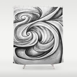 Swirl (Gray) Shower Curtain