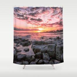 2016 Pink Kauai Sunset Shower Curtain