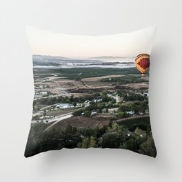 Sunrise over the vineyards - Southern California Throw Pillow