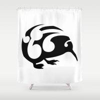 kiwi Shower Curtains featuring Kiwi by mailboxdisco